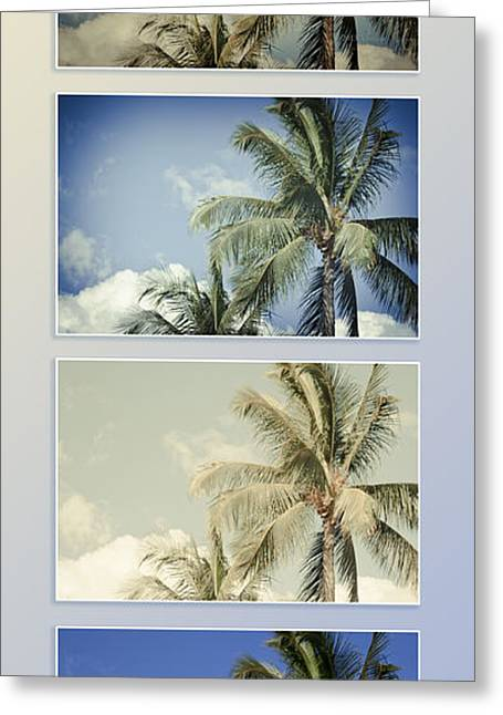 Niu Greeting Cards - Toujours subtile et surprenante Couleurs - Hawaiian Coconut Palms - Niu - Cocos nucifera Greeting Card by Sharon Mau