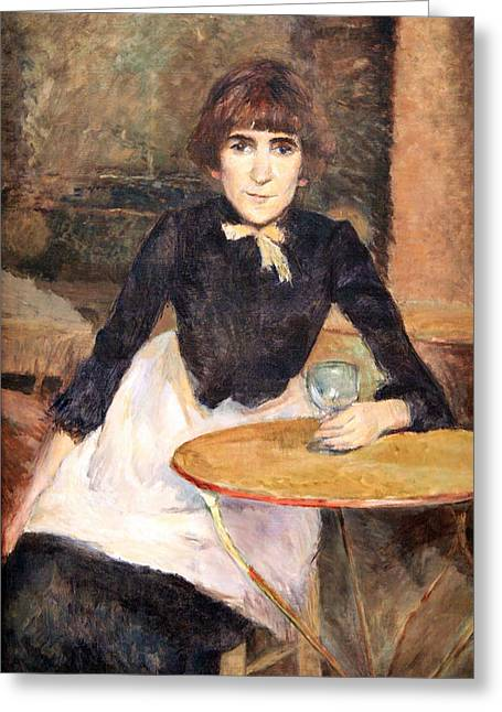Bastille Greeting Cards - Toulouse Lautrecs A La Bastille -- Jeanne Wenz Greeting Card by Cora Wandel
