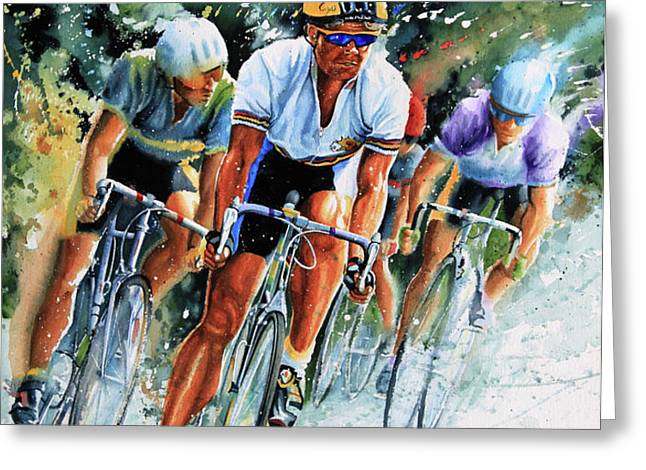 Tour de Force Greeting Card by Hanne Lore Koehler