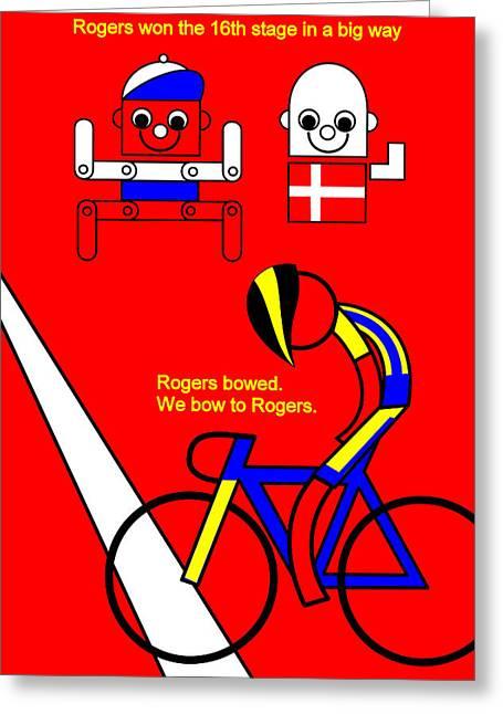 Owner Digital Greeting Cards - Tour de France 2014 Stage 16 Greeting Card by Asbjorn Lonvig