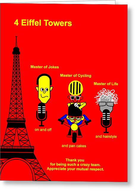 Pan Cakes Greeting Cards - Tour de France 2014 Stage 21 Greeting Card by Asbjorn Lonvig