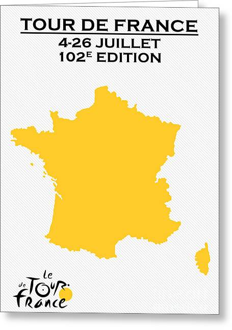 Fatigues Greeting Cards - Tour de France 2015 Greeting Card by Adam Asar