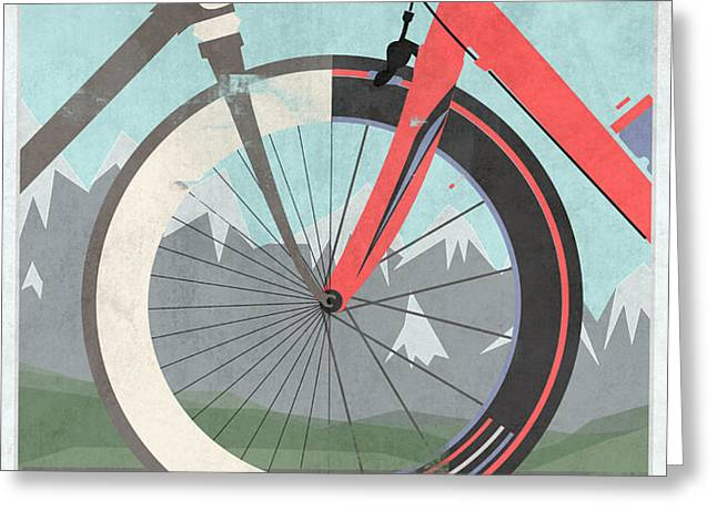 Tour De France Bicycle Greeting Card by Andy Scullion