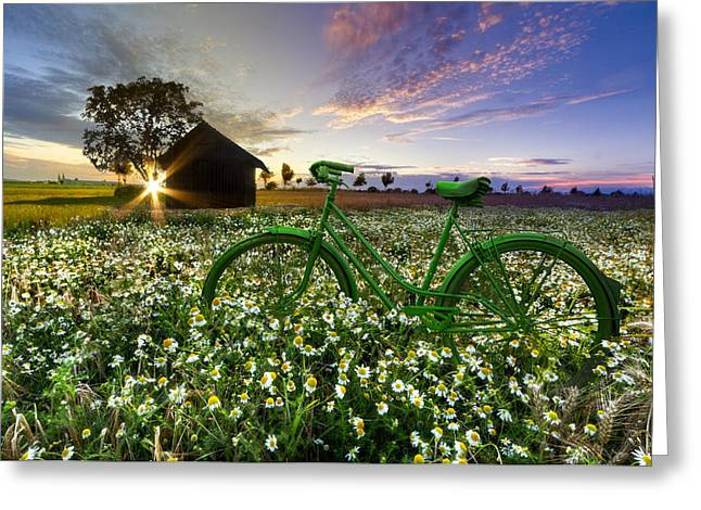 Best Sellers -  - Swiss Photographs Greeting Cards - Tour de France Greeting Card by Debra and Dave Vanderlaan