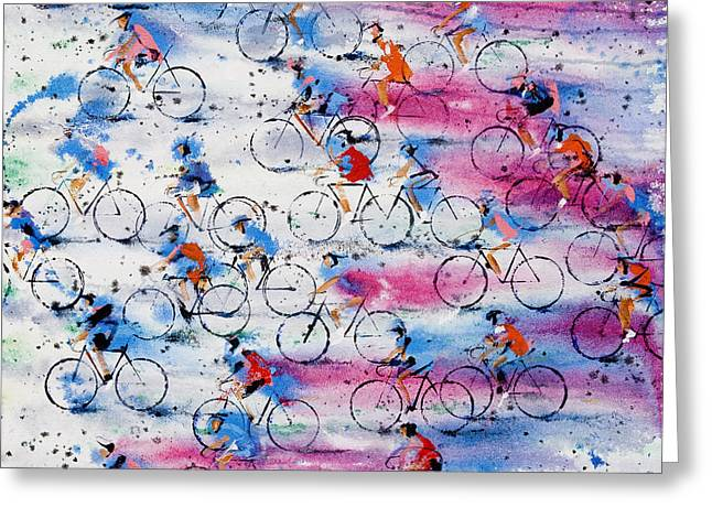 Neil Mcbride Greeting Cards - Giro DItalia Greeting Card by Neil McBride