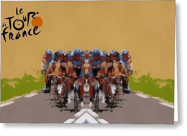 Tour De France Simple Greeting Card by Dan Sproul