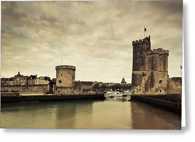 Nicholas Greeting Cards - Tour De La Chaine And Tour St-nicholas Greeting Card by Panoramic Images
