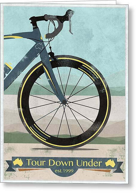 Messenger Greeting Cards - Tour Down Under Bike Race Greeting Card by Andy Scullion