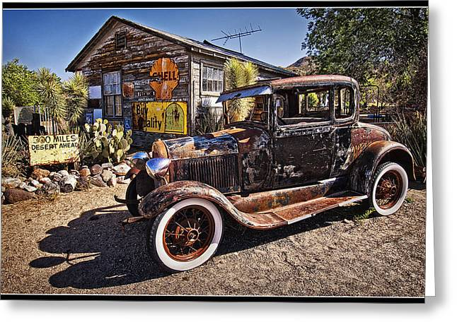 Grocery Store Greeting Cards - Touring Route 66 Greeting Card by Priscilla Burgers