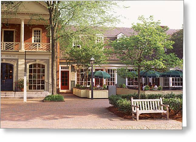 Williamsburg Greeting Cards - Tourist In Town Square, Williamsburg Greeting Card by Panoramic Images