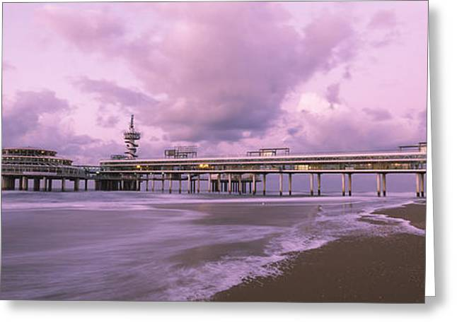 The Hague Greeting Cards - Tourist Resort At The Seaside Greeting Card by Panoramic Images