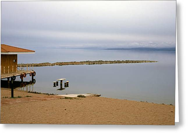 Former Greeting Cards - Tourist Resort On The Beach, Lake Greeting Card by Panoramic Images
