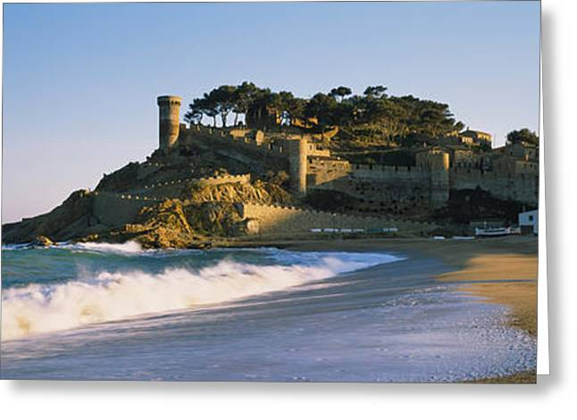 Sand Castles Greeting Cards - Tourist Resort On The Beach, Tossa De Greeting Card by Panoramic Images
