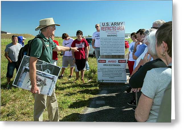 Tourists At Historic Missile Base Greeting Card by Jim West