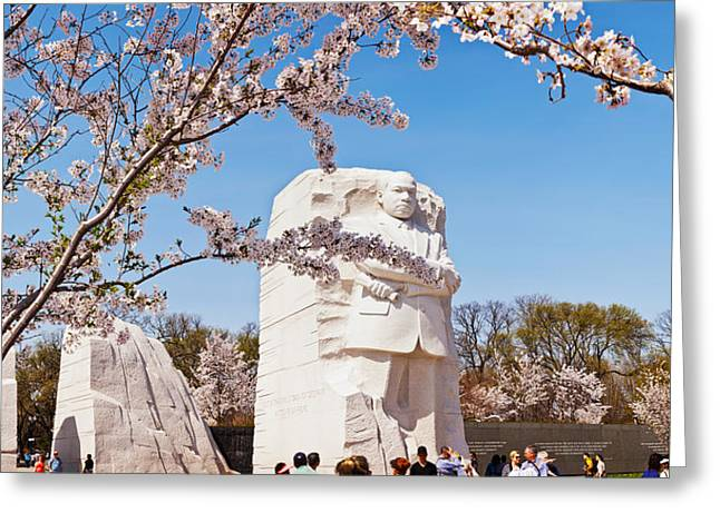 Martin Luther King Jr. Greeting Cards - Tourists At Martin Luther King Jr Greeting Card by Panoramic Images