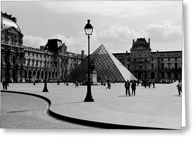 Pyramids Greeting Cards - Tourists In The Courtyard Of A Museum Greeting Card by Panoramic Images