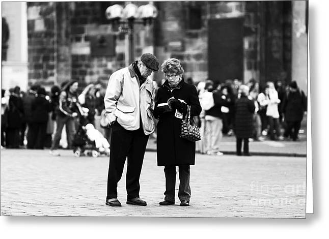 Still Life Photographs Greeting Cards - Tourists Greeting Card by John Rizzuto