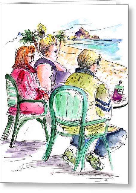 Tourists On The Costa Blanca In Spain Greeting Card by Miki De Goodaboom