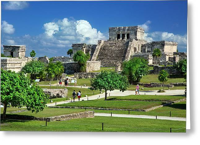 Tourists Visiting The Ruins Greeting Card by Brian Jannsen