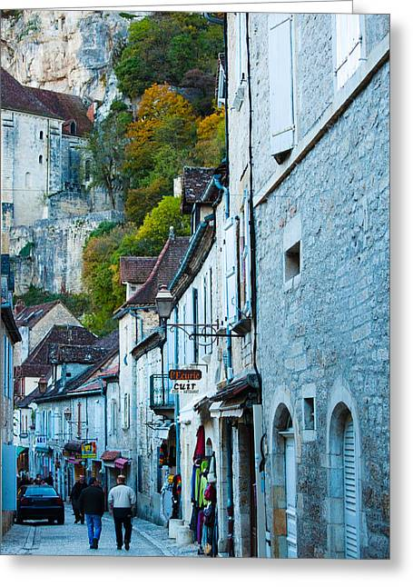 Midi Greeting Cards - Tourists Walking In The Street Of Lower Greeting Card by Panoramic Images