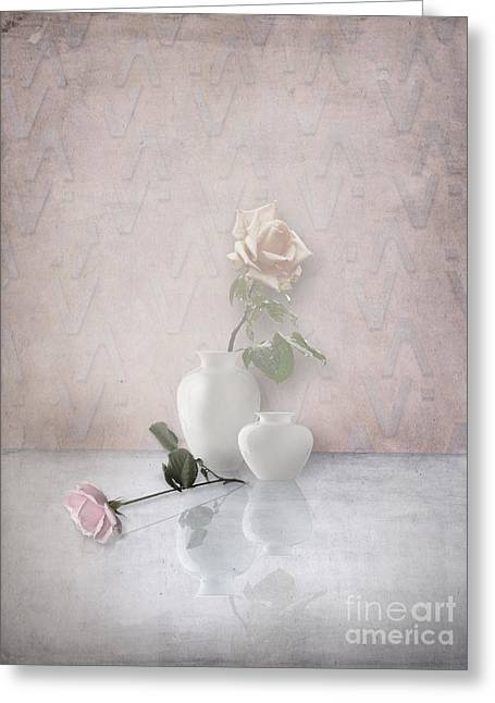 Interior Still Life Greeting Cards - Tout En Rose Greeting Card by Artskratches