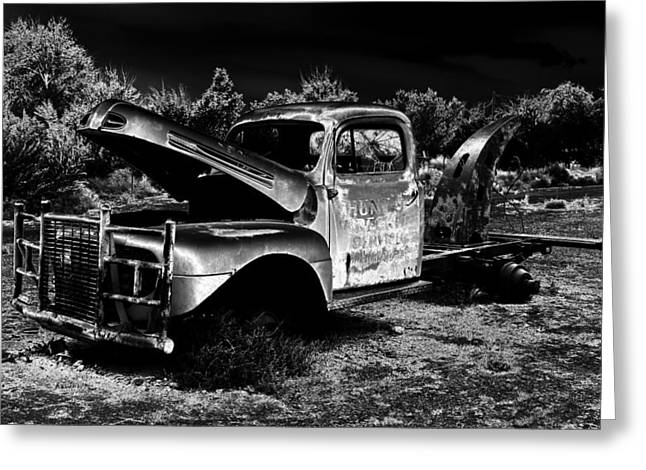 Tow Greeting Cards - Tow Truck in the Desert Greeting Card by David Lee Thompson