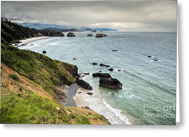 Toward Cannon Beach Greeting Card by Jon Burch Photography