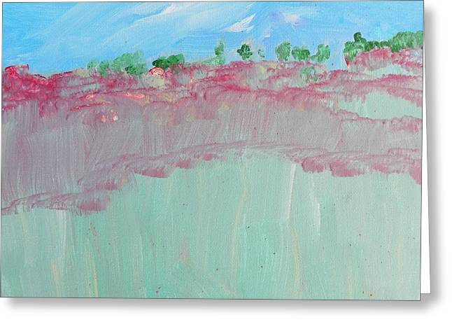 Abstract Expressionist Greeting Cards - Toward the Canyonlands Greeting Card by Lenore Senior