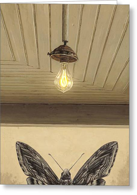 Bulb Greeting Cards - Toward the Light Greeting Card by Ron Crabb