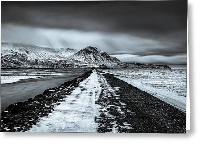 Icelandic Greeting Cards - Towards Storidalur Greeting Card by Dave Bowman