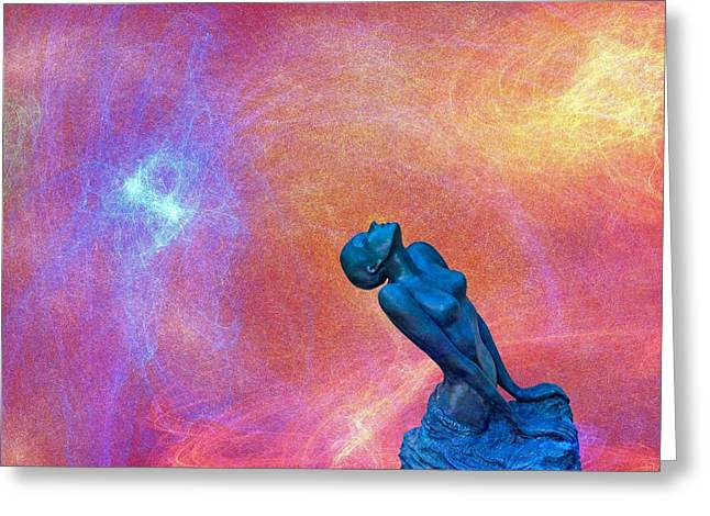 Statue Portrait Photographs Greeting Cards - Towards the sky Greeting Card by Catherine Arnas