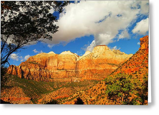 Southern Utah Greeting Cards - Towards Zion Greeting Card by Jeff  Swan