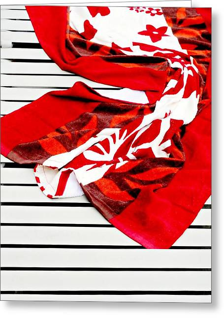 Beach Towel Greeting Cards - Towel Dry Greeting Card by Diana Angstadt