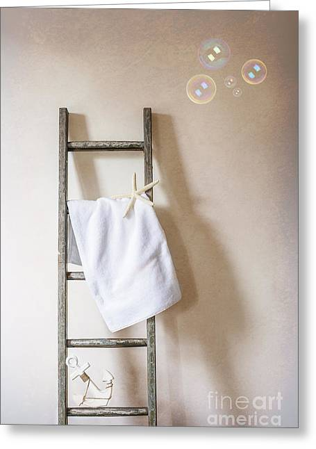 Drying Rack Greeting Cards - Towel Rail Greeting Card by Amanda And Christopher Elwell