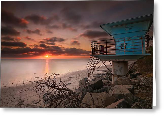Exposure Greeting Cards - Tower 27 Greeting Card by Larry Marshall