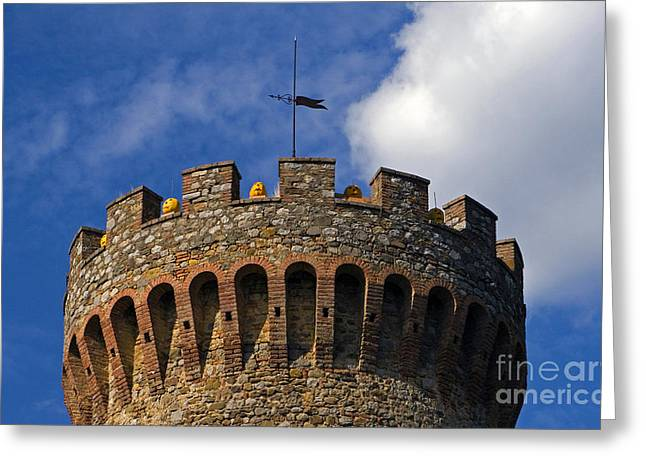 Wind Vane Greeting Cards - Tower And Pumpkins, Umbria, Italy Greeting Card by Tim Holt