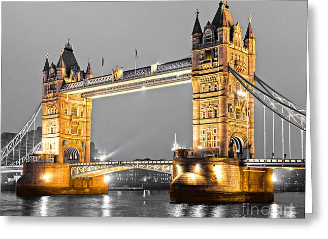 Recently Sold -  - Reflex Greeting Cards - Tower Bridge - London - UK Greeting Card by Luciano Mortula