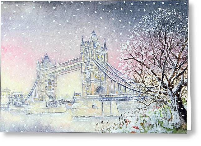 53 Greeting Cards - Tower Bridge, 2005 Wc On Paper Greeting Card by Tony Todd