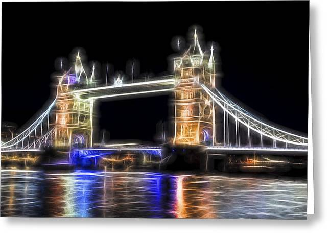 Royal Art Greeting Cards - Tower Bridge Abstract Greeting Card by Stephen Stookey