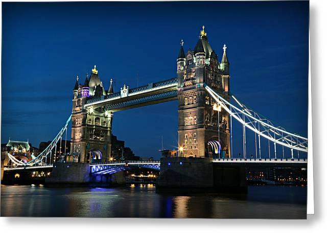 Tower Bridge Evening No 2 Greeting Card by Stephen Stookey