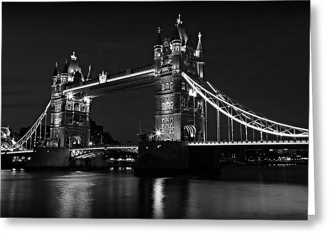 Royal Art Greeting Cards - Tower Bridge Evening Greeting Card by Stephen Stookey