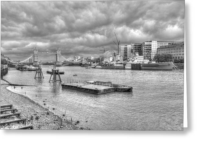 Chelsea Greeting Cards - Tower Bridge HDR Greeting Card by David French