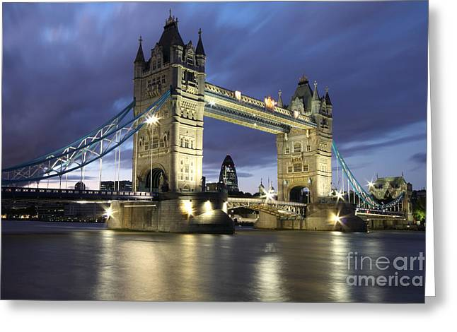 Londoners Greeting Cards - Tower Bridge in London England Greeting Card by Bill Cobb