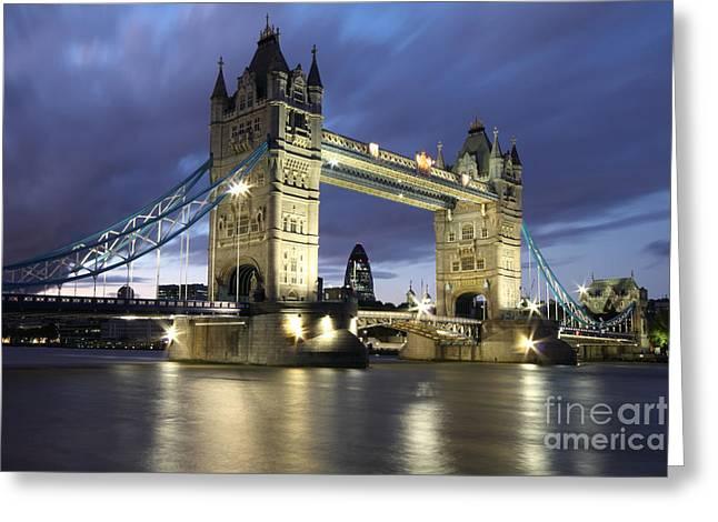 Tower Bridge In London England Greeting Card by Bill Cobb