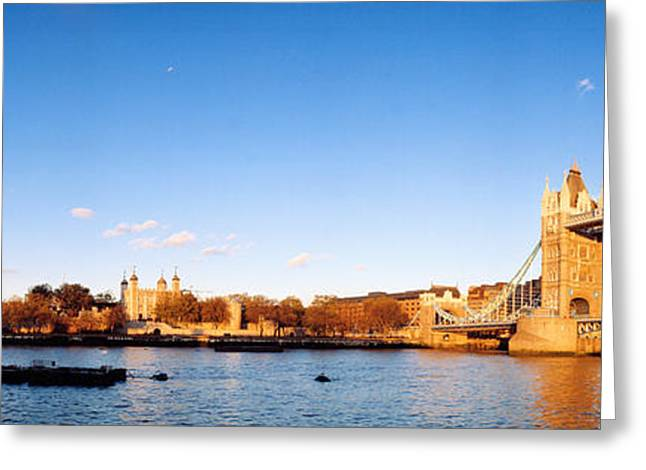 London Structure Greeting Cards - Tower Bridge, London, England, United Greeting Card by Panoramic Images