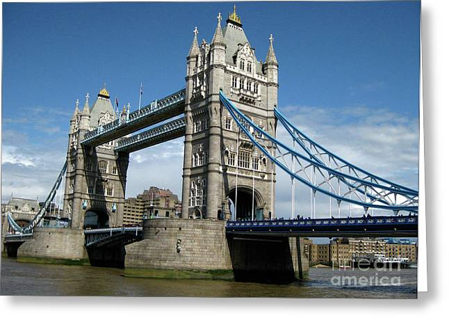 Kate Middleton Greeting Cards - Tower Bridge London Greeting Card by Heidi Hermes