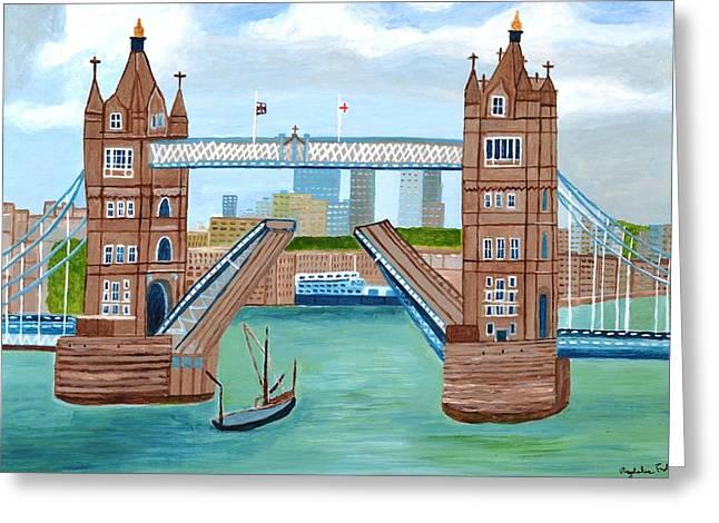 Magdalena Frohnsdorff Greeting Cards - Tower Bridge London Greeting Card by Magdalena Frohnsdorff