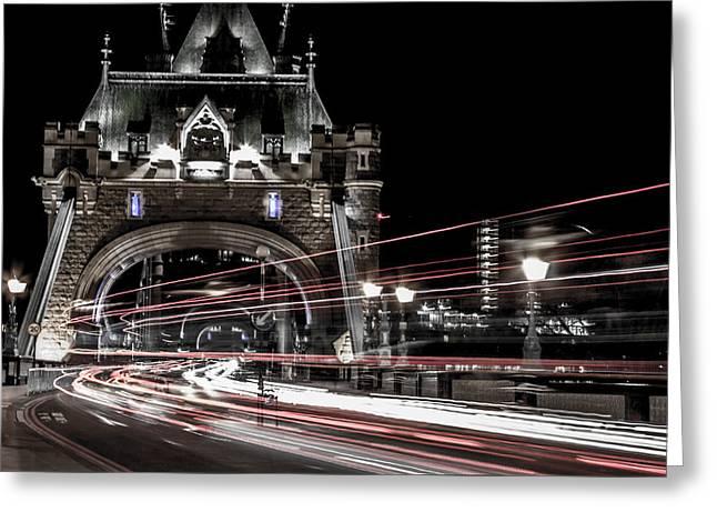 Tower Bridge London Greeting Card by Martin Newman