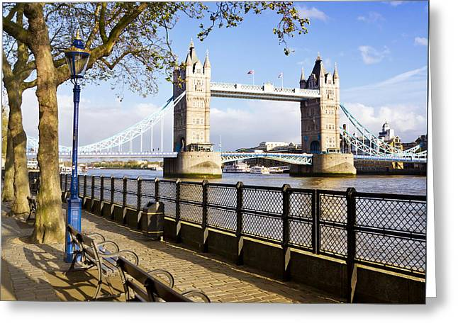 Gb Greeting Cards - Tower Bridge LONDON Greeting Card by Melanie Viola