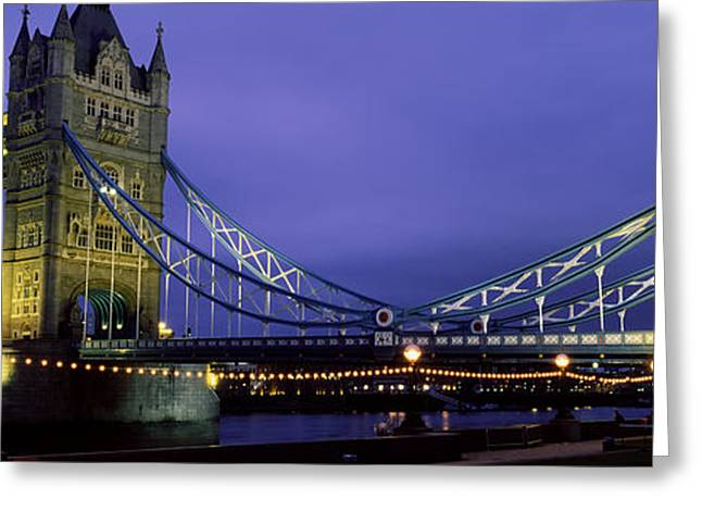 Victorian Greeting Cards - Tower Bridge, London, United Kingdom Greeting Card by Panoramic Images